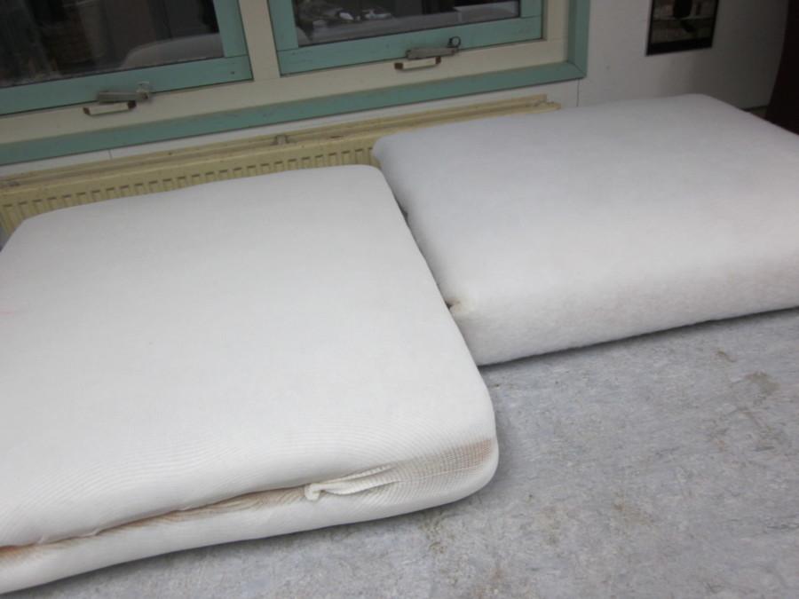 Zit-matrassen afgewerkt met een schuimlaag